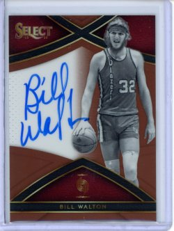 2015-16 Panini Select Bill Walton Signatures Copper