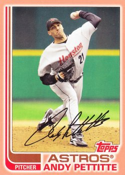 2017 Topps Archives Andy Pettitte Peach