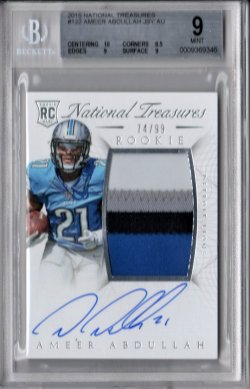 2015 Panini National Treasures Ameer Abdullah