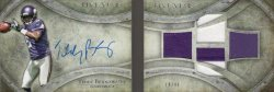 2014 Topps Five Star Teddy Bridgewater Auto Patch Booklet