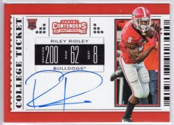 2019 Panini Contenders Draft Picks Riley Ridley RPS College Ticket Variation A