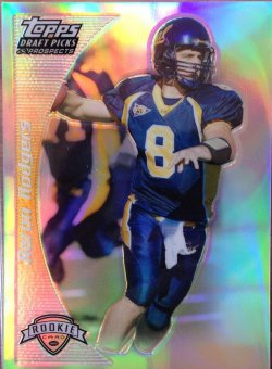 2005 Topps Draft Picks & Prospects Aaron Rodgers RC Gold Refractor