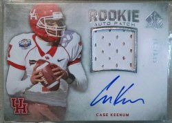 2012 Upper Deck SP Authentic Case Keenum RPA