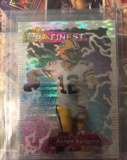 2015 Topps Finest 1995 Throwback Pulsar Refractor Aaron Rodgers