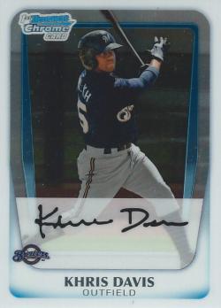 2011 Bowman Chrome Prospects  Khris Davis