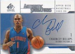 2003-04 Upper Deck SP Authentic Billups, Chauncey - Signatures