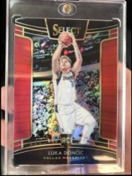 2018-19 Panini Select  Luka Doncic Concourse Red Prizm/199