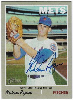 2019 Topps Heritage Nolan Ryan - Real One Autograph
