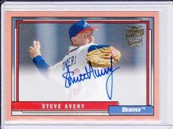 Steve Avery 2017 Topps Archives Fan Favorites Autographs Peach /150