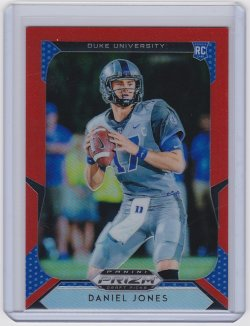 2019 Daniel Jones Prizm Draft Picks Orange  RC   Duke A8855