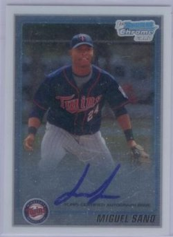 2010 Bowman Chrome Miguel Sano Auto RC