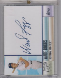 2006 Topps topps certified auto wade boggs