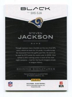 2019 Panini Black Steven Jackson Shining Signatures Gold Back