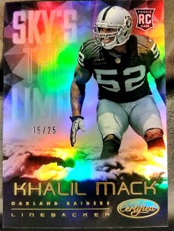 2014 Panini Certified Khalil Mack Skys the Limit Mirror Gold Parallel #2