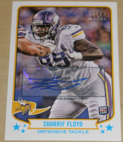 2013  Topps Magic  Sharrif Floyd Auto