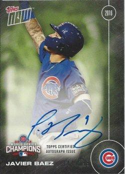2016 Cubs Topps Now World Series Autographs Green Baez