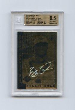 2006 Merrick Mint Draft Picks Holographic Gold Sig #1 Reggie Bush/99 BGS 9.5 (POP 33) As of 2 Mar 2021