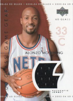 2003-04 Upper Deck UD Glass  Mourning, Alonzo - Game Gear