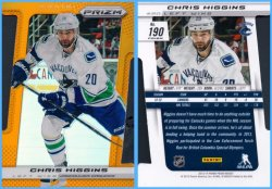 2013-14 Panini Prizm Prizm Orange Die-Cut Parallel Chris Higgins