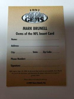 1997  Pro Line  Brunell Gems of the NFL Redemption