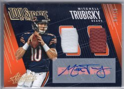 2018 Panini Absolute Mitchell Trubisky Tools of the Trade Double Auto Prime