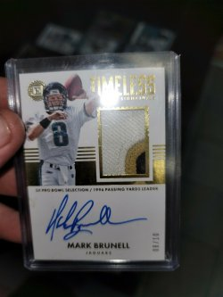 2017 Panini Encased Timeless Materials Signature Gold  Brunell