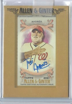 2021 Topps Allen & Ginter Jose Andres Autograph
