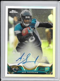 2013 Topps Chrome Refractor Rookie Autograph - Ace Sanders