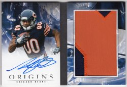 2018 Panini Origins Anthony Miller Rookie Booklet Patch Auto