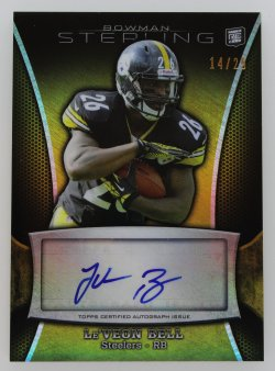 2013   LeVeon Bell Bowman Sterling Gold Auto /25