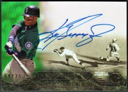 2014   Ken Griffey Jr. Topps Tribute Traditions Green Parallel Auto /25