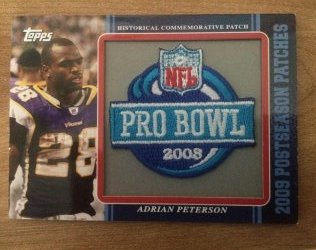 2009 Topps  Adrian Peterson historical pro bowl patch card