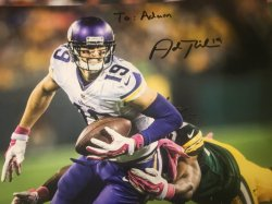 Adam Thielen Signed Personalized 8x10