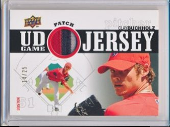 Clay Buchholz 2010 Upper Deck UD Game Patch /25