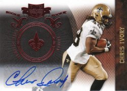 2010 Panini Plates and Patches Rookie Auto Chris Ivory