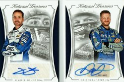 2016 Panini National Treasures Racing Jimmie Johnson/Dale Earnhardt Jr