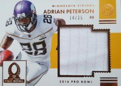 2016 Panini Encased Adrian Peterson Pro Bowl Patch