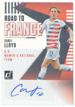 2019 Donruss Road to France Autographs Carli Lloyd