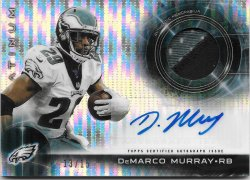 2015 Topps Platinum Patch Autographs Pulsar Refractors DeMarco Murray
