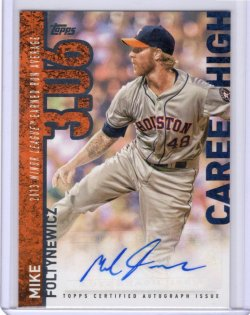 2015 Topps Career High Autographs-S2 Mike Foltynewicz