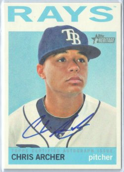 2013 Topps Heritage Real One Autograph Chris Archer