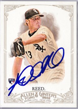 2012 Topps Allen and Ginter Addison Reed RC IP Auto