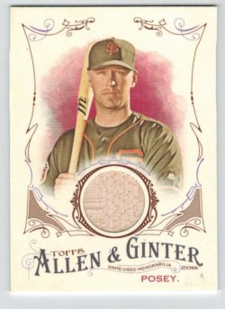 2016 Topps Allen & Ginter Relics (Full Size) Buster Posey