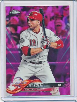 Joey Votto 2018 Topps Chrome Update Pink Refractor