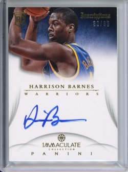 2012-13 Panini Immaculate Harrison Barnes Inscriptions