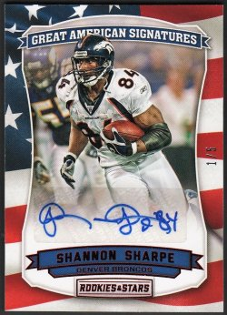 2016   Shannon Sharpe R&S Great American Signatures Auto #1/5