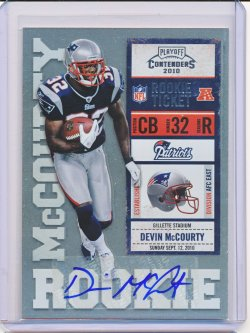 Devin McCourty 2010 Playoff Contenders Autograph