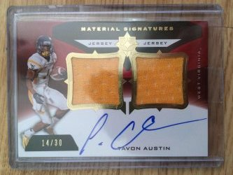 2013 Upper Deck Ultimate Collection Tavon Austin Material Signatures
