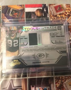 2008 Playoff Absolute Tools of the Trade Dual Material  Reggie White