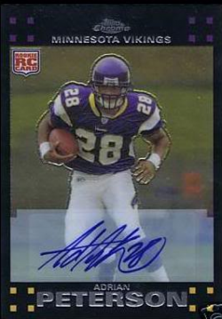 2007  Chrome Adrian Peterson SP Auto RC
